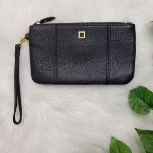 🌿Lodis Black Leather Wristlet Clutch🌿